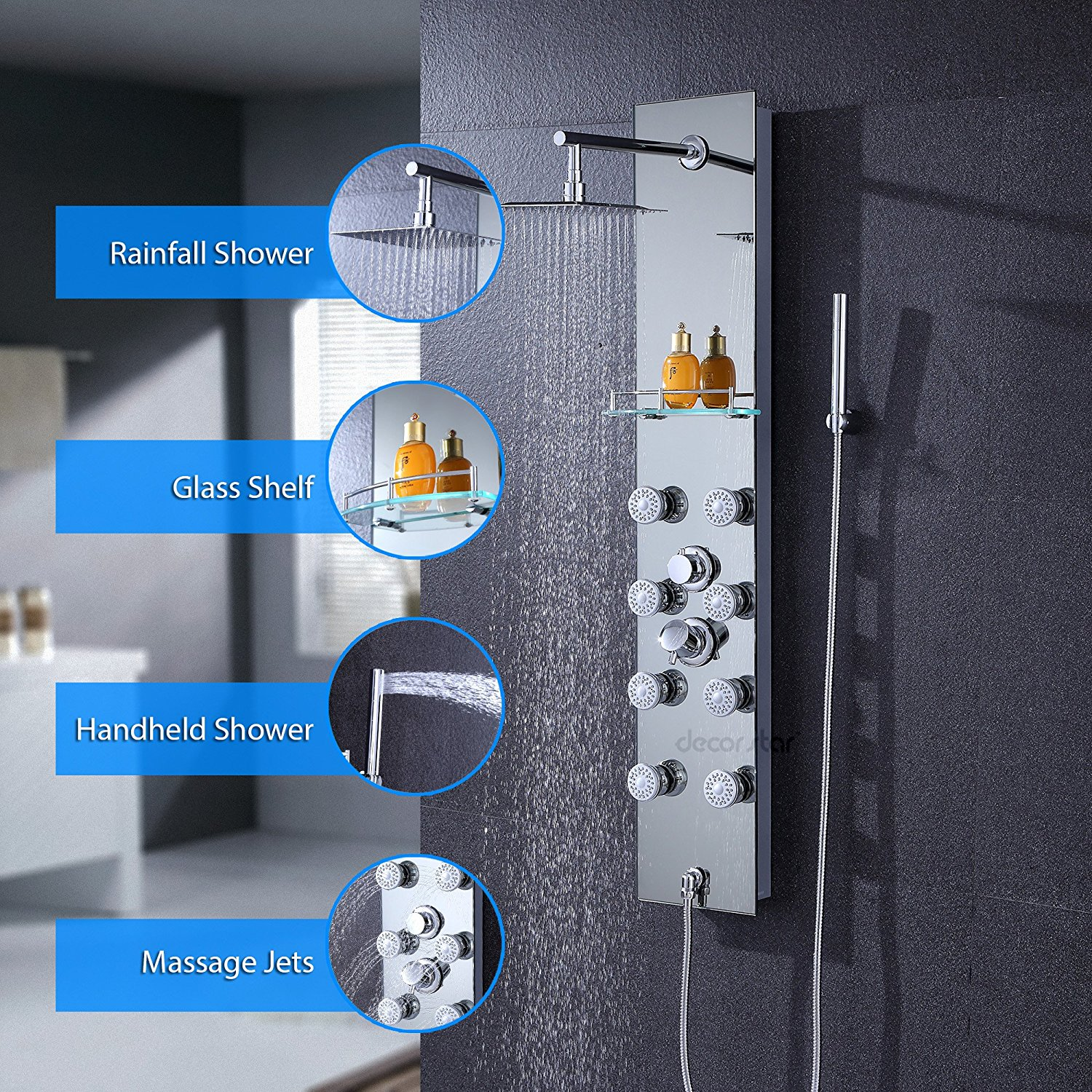 7 Best Shower Panel Reviews | Full Body Tower Systems 2018