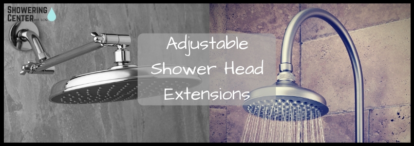a guide for adjustable shower arms and extensions