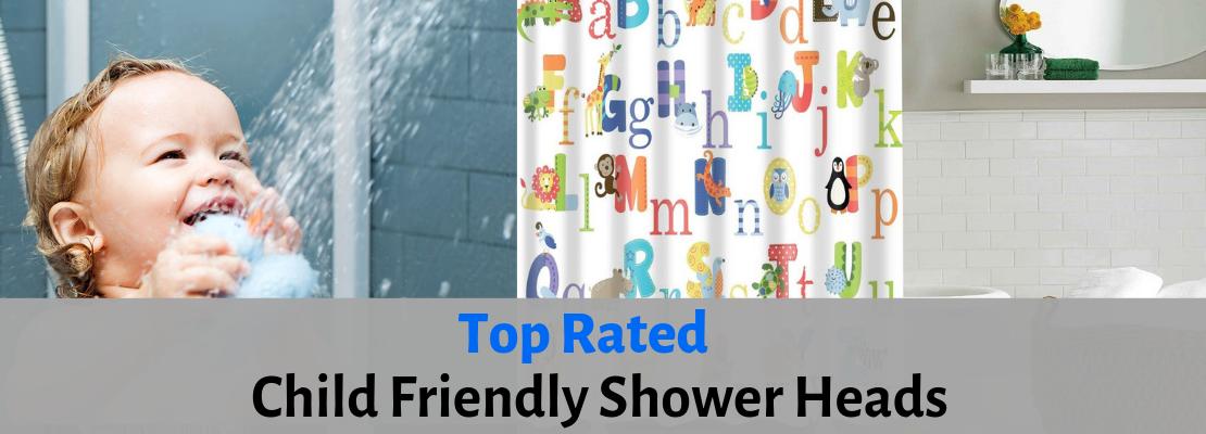 children friendly shower head guide