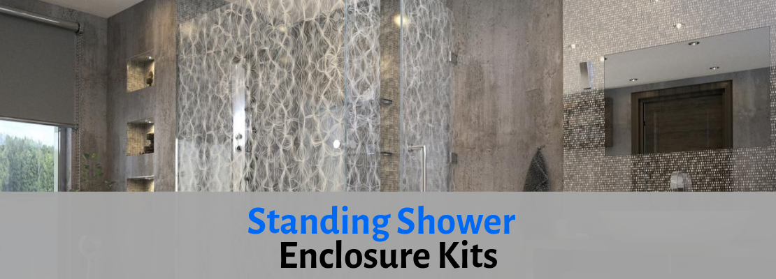 stand up shower enclosures
